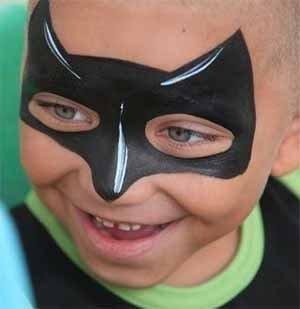Pintura de cara infantil el gato para nios para cada for Cara pintada diablo