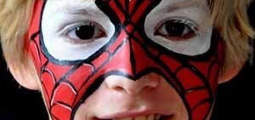 maquillaje de spiderman