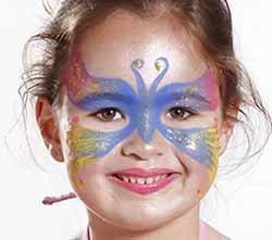 maquillaje de mariposa infantil