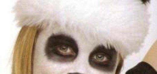 maquillaje de oso panda