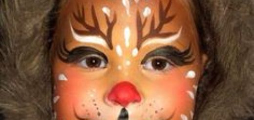 maquillaje reno para niños