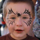 maquillaje infantil de araña para niños