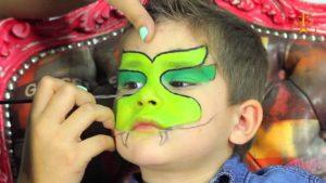 maquillaje dragón infantil