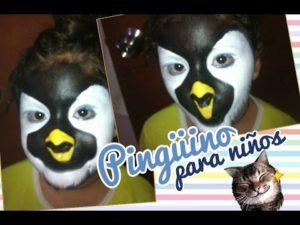 Maquillaje de pinguino para niños