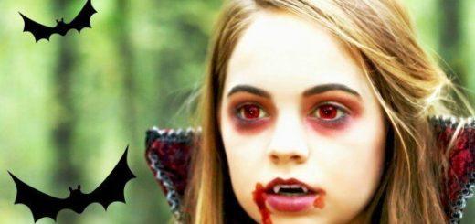 maquillaje vampiresa infantil para niñas