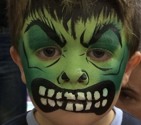 maquillaje de hulk